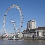 visiting london - london eye
