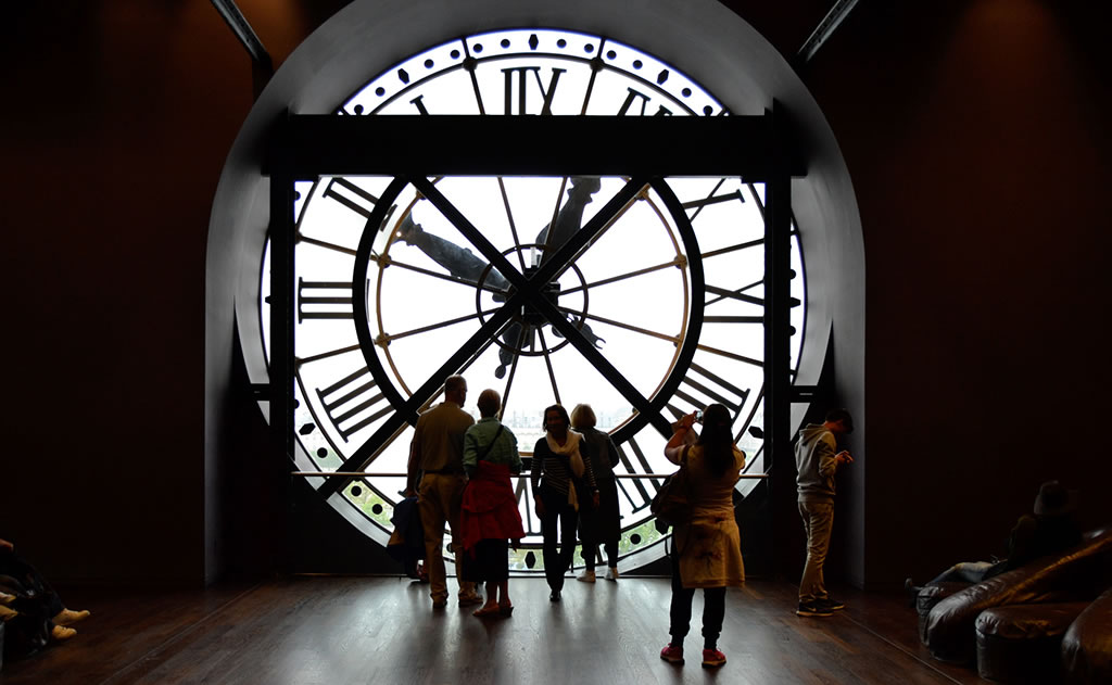 View from the Clock at the Musee D'Orsay