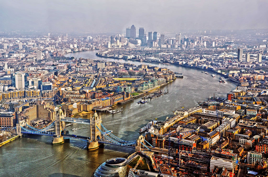 london viewed from The Shard